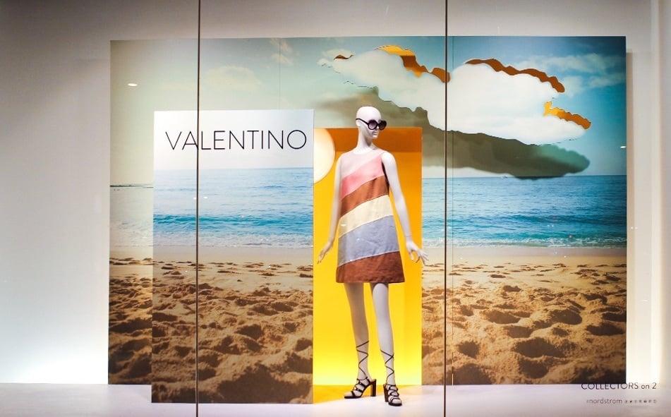 Valentino Nordstrom Window