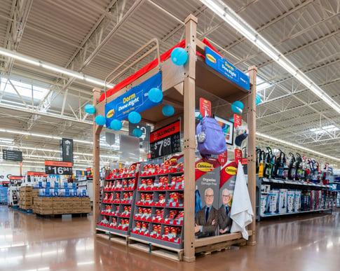 Walmart cardboard dorm room